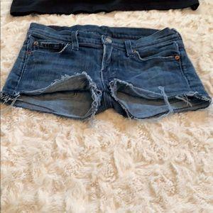 7 for all mankind cutoff shorts SZ 25